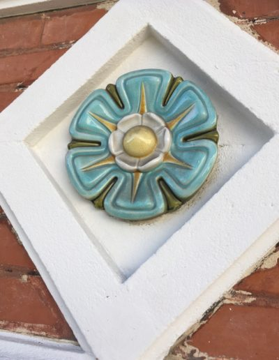 Décor façade ceramique émaillée