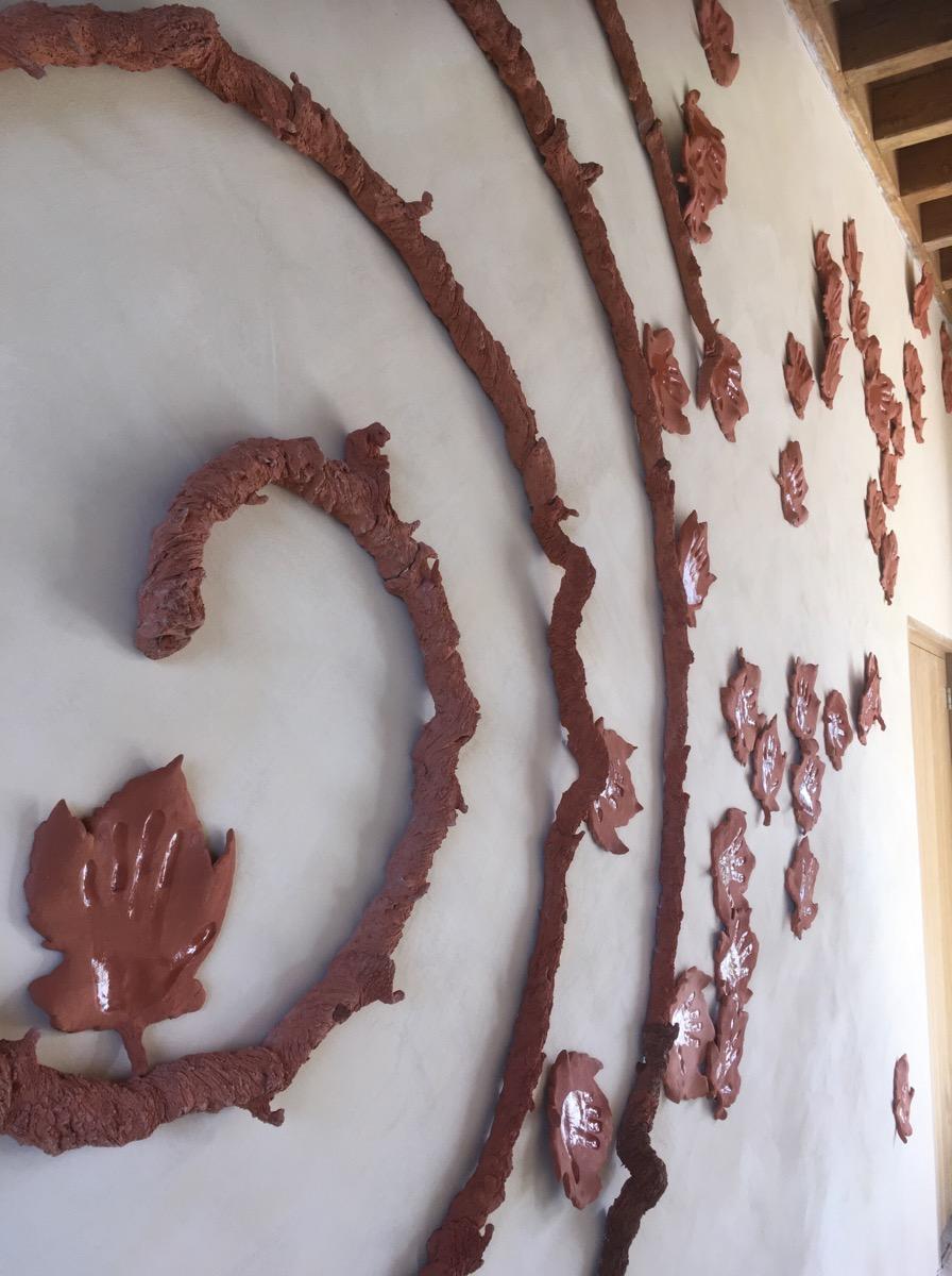Détail Spirale céramique façon cep de vigne