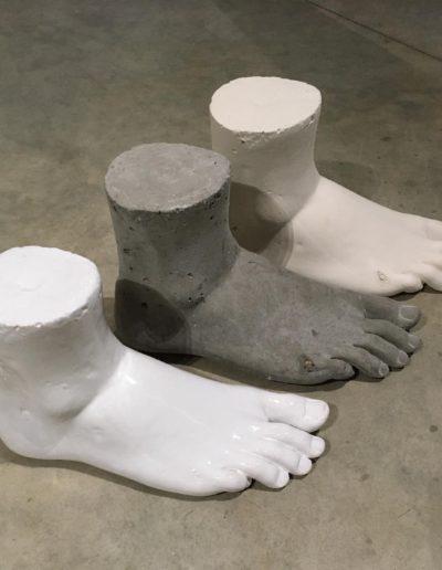 Grand pieds émaillé et beton