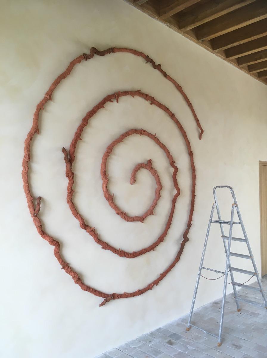 Spirale céramique façon cep de vigne