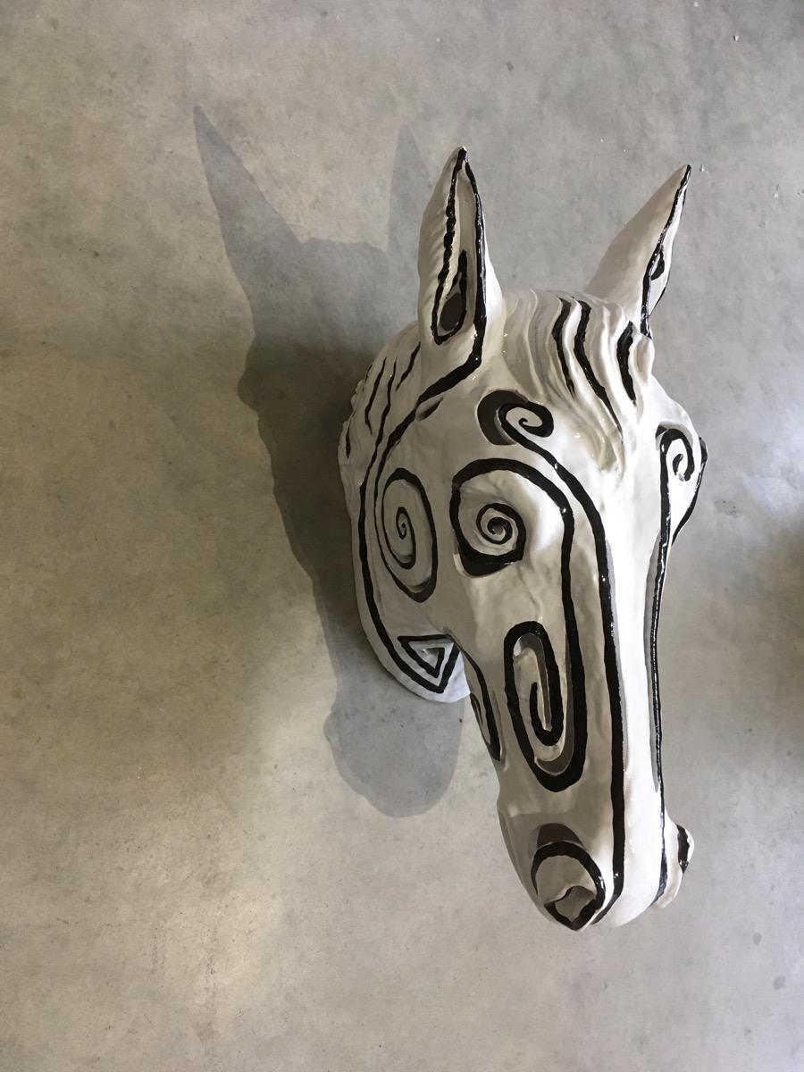 Tête de cheval customiser par Vincent Darré